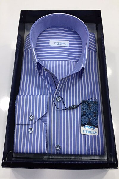 Çizgili Şık Klasik Erkek Gömlek