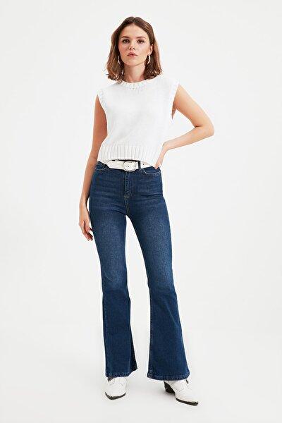 Mavi Petite Yüksek Bel Flare Jeans TWOAW22JE0525