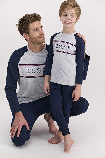 Erkek Uzun Kol Bronx Yazılı Pijama Takımı (baba Oğul Kombin Yapılabilir Fiyatları Farklıdır)