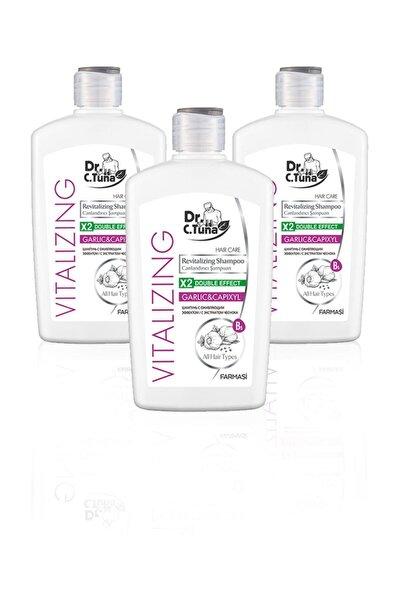 Dr. C. Tuna Vitalizing Sarımsaklı Şampuan 500 ml 3'lü Set