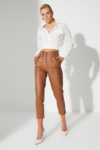 Camel Önden Düğmeli Pantolon TWOAW22PL0083