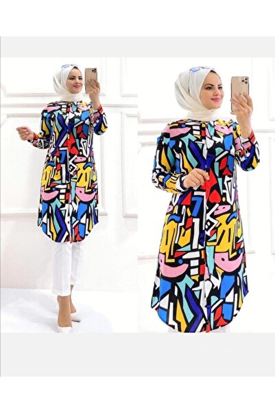 Kadın Yazlık Viskon Gömlek Tunik