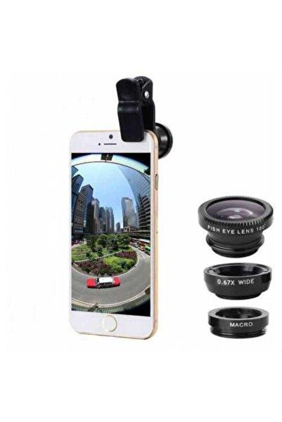 Geniş Açı Balık Gözü Lens Seti Balıkgözü Makro Telefon Lensi