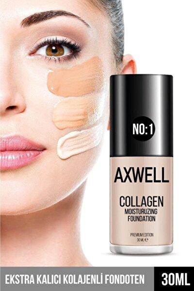 Axwell Premıum Edıtıon Collagen Foundatıon ( Kolajenli Fondöten ) Nemlendirici Etki 30 ml Lıght ( Aç