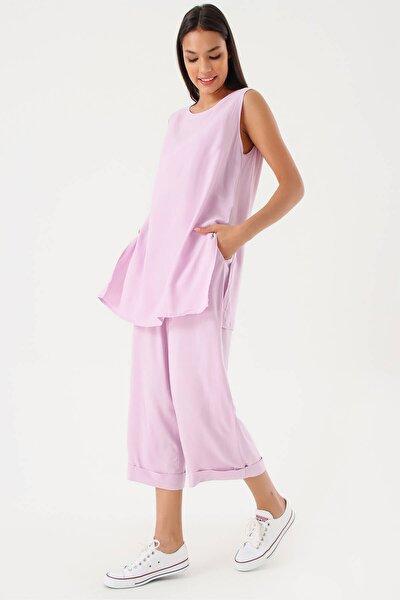Lila Bluz Pantolon Takım