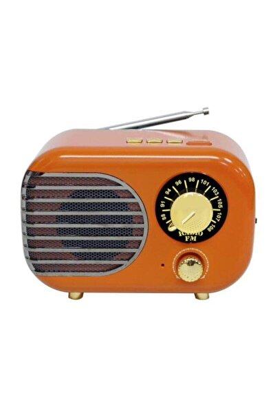 Nostaljik Tasarım Şarjlı Bluetooth Fm Mini  Radyo M-207bt