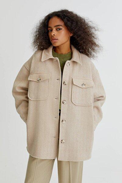 Yün Karışımlı İnce Ceket