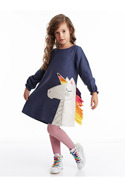 Renkli Unicorn Kız Elbise