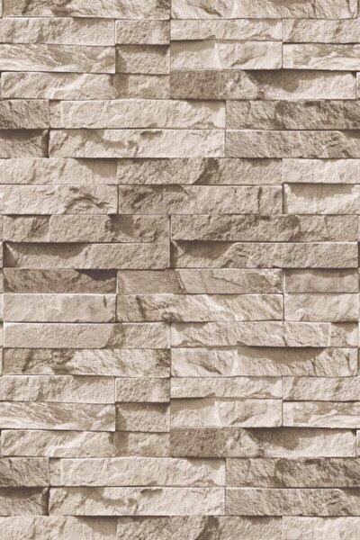 Kahverengi Exclusive Taş Desen Duvar Kağıdı 5m2