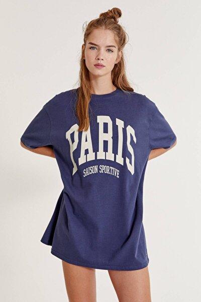 Paris Sloganlı T-Shirt