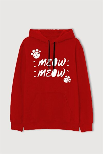 Sweat Cat Series Meow Meow Red