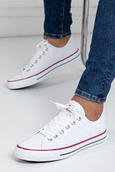 Unisex Beyaz Ortopedik Şeritli Sneakers Cnvrs3579746