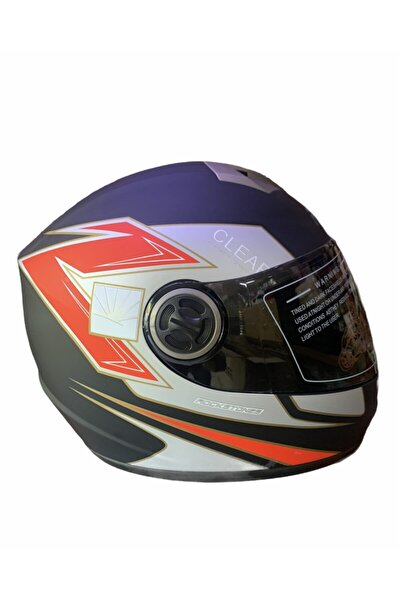 Full Face Motorsiklet Kaskı ( Siyah Vizörlü )