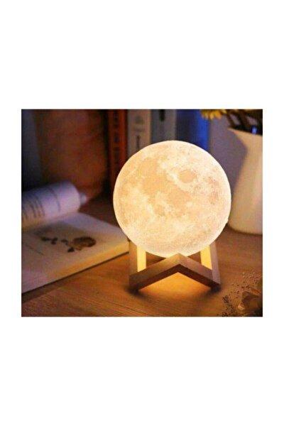 3d Standlı Ay Gece Lambası Dekoratif Küre Led