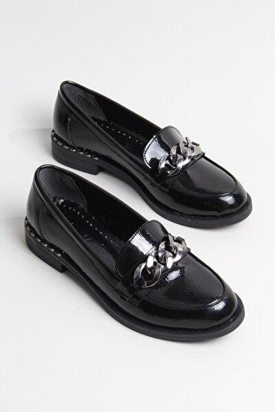 Klasik Rugan Rahat Iş Ofis Loafer Kadın Ayakkabı