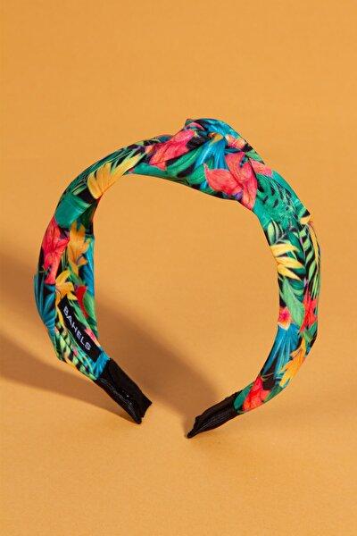 Kadın Renkli Desen Detaylı Yaz Koleksiyon Düğümlü Lüx Model Taç Saç Bandı