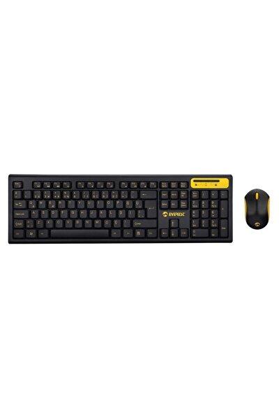 Km-5535 Usb Multi Media Kablosuz Q Standart Klavye + Mouse Set