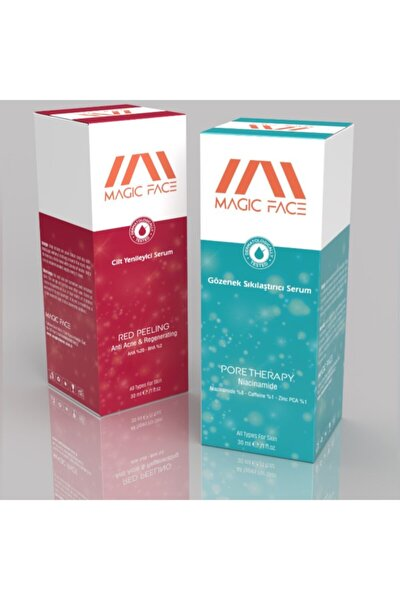 Red Peeling Eşitleyici (aha 20% + Bha 2%)+ Pore Therapy Niacinamide 8% + Zınc Pca 1% 30ml Double Set