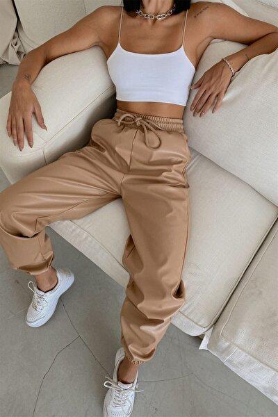 Jogger Deri Pantolon