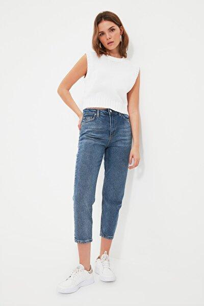 Mavi Petite Yüksek Bel Mom Jeans TWOSS21JE0474