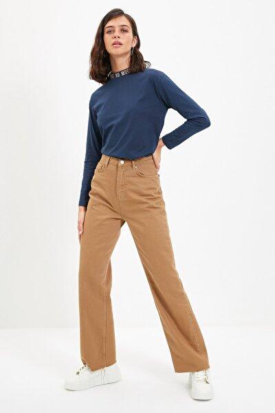 Camel Yüksek Bel 90's Wide Leg Jeans TWOAW22JE0452