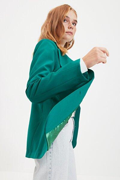 Yeşil Düğmeli Blazer Ceket TWOAW22CE0054