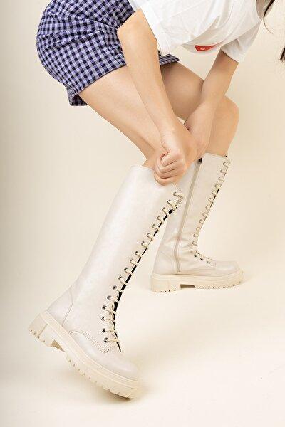 Ten Cilt Bağcıklı Çizme