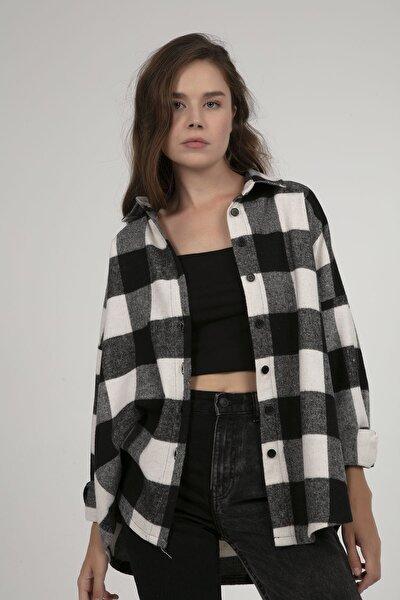 Kadın Oversize Oduncu Gömlek P21w201-2779