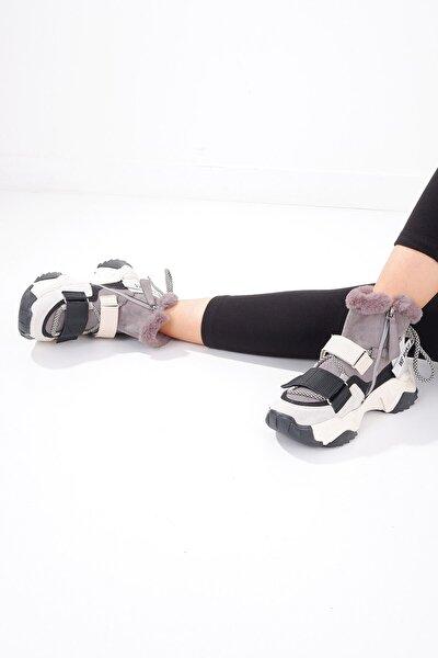 6540 Kadın Bot Buz Siyah Multi