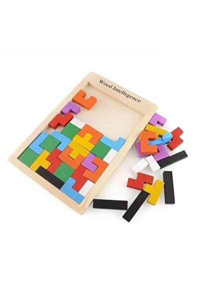 Eğitici Ahşap Blok Tetris Zeka Oyunu