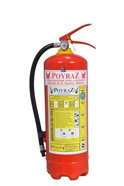 6kg Yangın Söndürme Tüpü Köpüklü 4 Yl Askı Aparatı+levha +dübel+vida Hediy