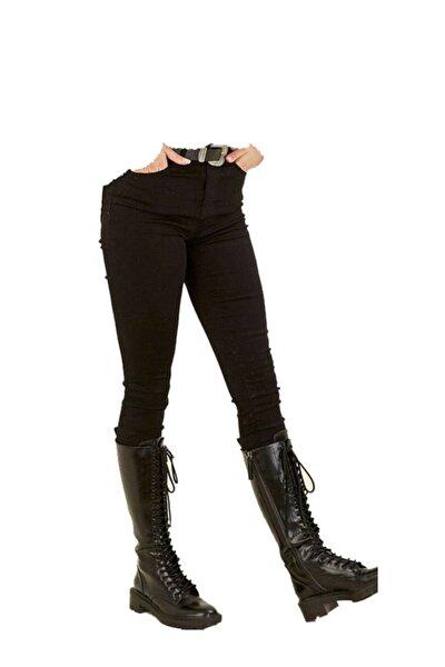 Kadın Toparlayıcı Yüksek Bel Likralı Dar Paça Pantolon