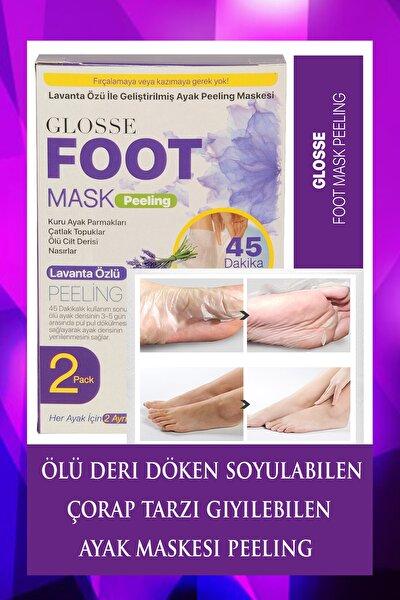 Lavanta Özlü Cilt Yenileyen Ölü Deri Soyulabilen Ayak Maskesi Peeling 2 Pack