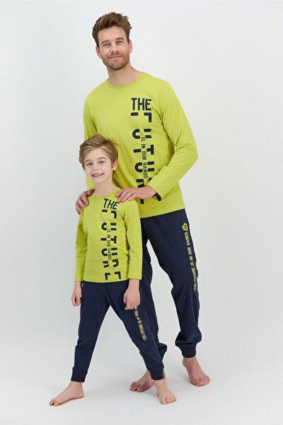 Erkek Uzun Kol Yazılı Pijama Takımı (baba Oğul Kombin Yapılabilir Fiyatları Farklıdır)