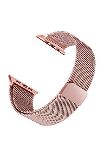 Apple Watch Hasır Series 1-2-3-4-5-6-7-se 38mm / 40mm /41mm Milanese Loop Kordon Rose Gold