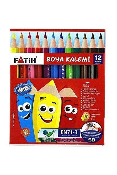 12 Renk Yarım Boy Kuru Boya Kalemi 33012
