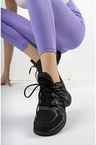 Kadın Siyah Spor Ayakkabı Sneaker