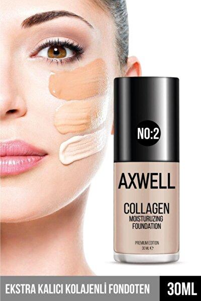 Axwell Premıum Edıtıon Collagen Foundatıon ( Kolajenli Fondöten ) Nemlendirici Etki 30 ml Orta Ton