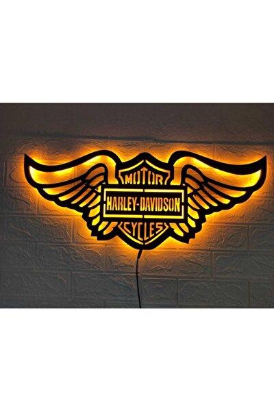 Harley Davidson Led Işıklı Tablo