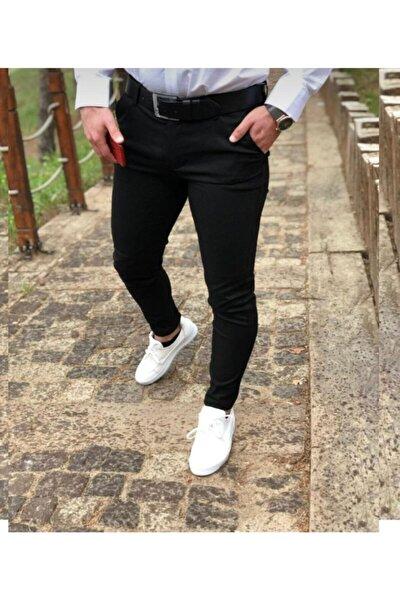 Erkek Siyah Jeans Italyan Kesim Kot Pantolon