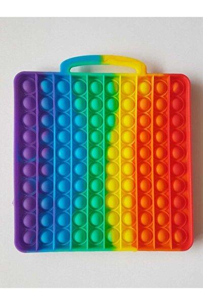 Büyük 21cm Pop It Push Bubble Fidget Özel Pop Duyusal Zihinsel Stres Oyuncak Gökkuşağı Kare Pop-ıt30