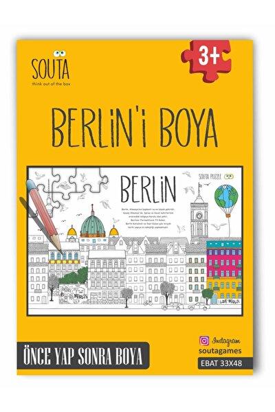 Puzzle Berlin'i Boya 54 Parça Boyama Puzzle (ebat:33x48cm)