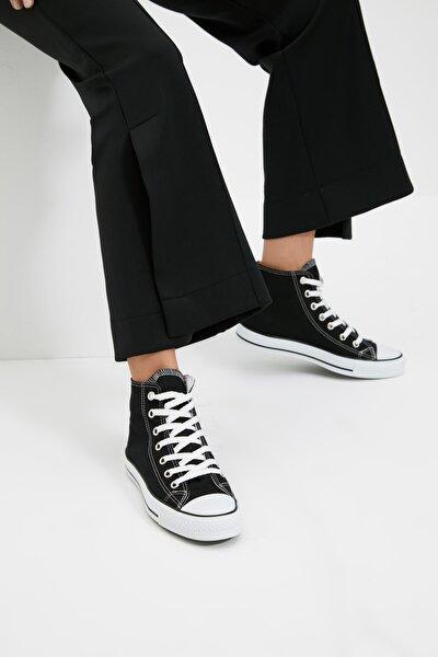 Siyah Bilekli Kadın Sneaker TAKAW22SN0003