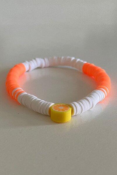 Orange Fimo Bileklik