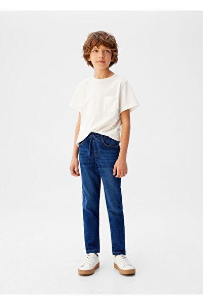 Erkek Çocuk Mavi Comfy Kesim Jean Pantolon
