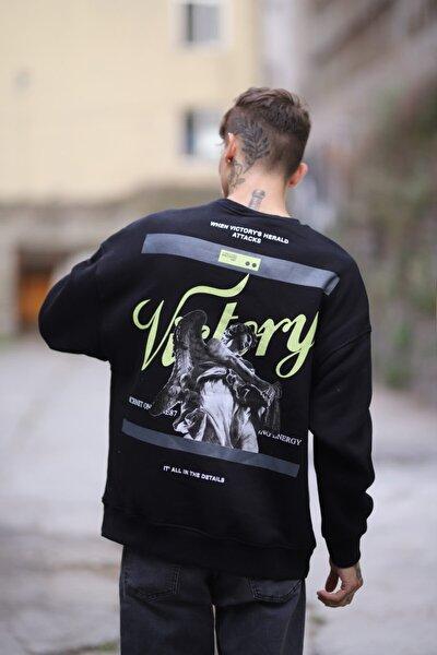 Victory Siyah Oversize Sweatshirt