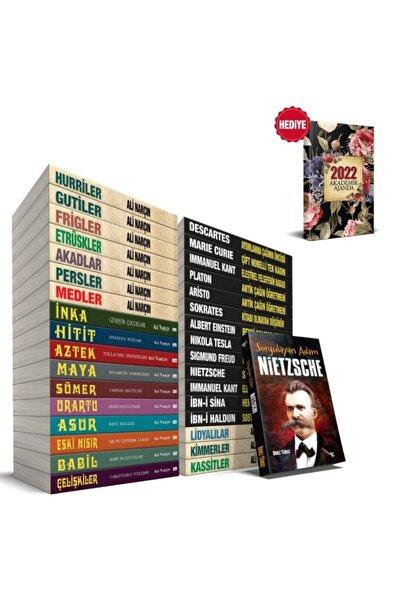 Insanlığa Yön Verenler Seti - 34 Kitap Ve 2022 Akademik Ajanda Retro