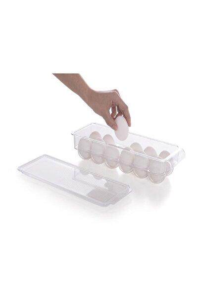 Kapaklı Yumurta Saklama Kabı Şeffaf