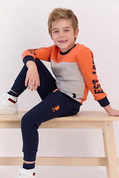 Erkek Çocuk Turuncu Eşofman Takım