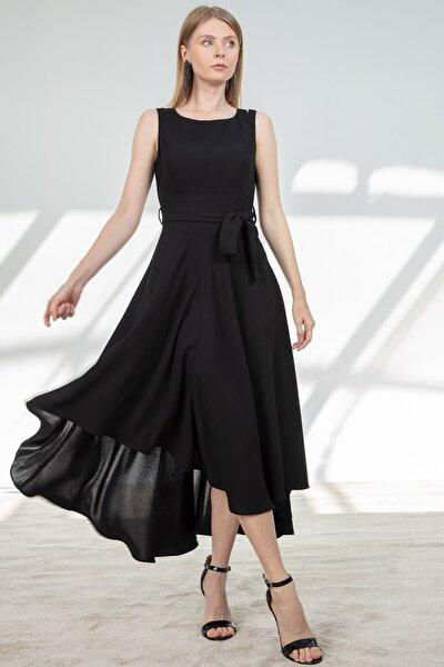 Elbise-çift Askı Detaylı, Asimetrik